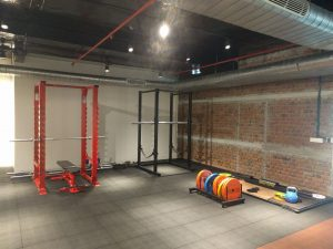 power lifting area